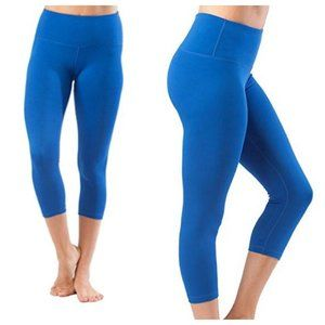 Yogalicious Blue Capri High Waist Leggings Size L